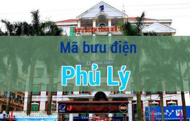 Mã bưu điện Phủ Lý, Hà Nam