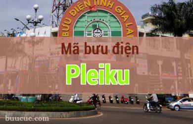 Mã bưu điện Pleiku, Gia Lai