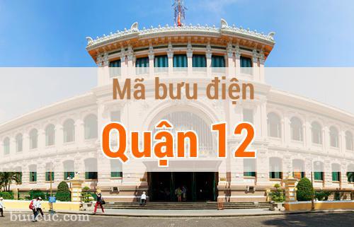 Mã bưu điện Quận 12, Hồ Chí Minh