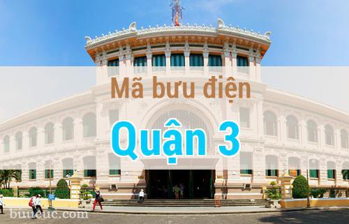 Mã bưu điện Quận 3, Hồ Chí Minh