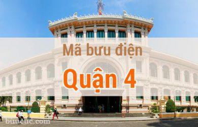 Mã bưu điện Quận 4, Hồ Chí Minh