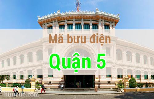 Mã bưu điện Quận 5, Hồ Chí Minh