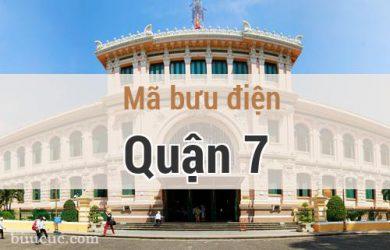 Mã bưu điện Quận 7, Hồ Chí Minh
