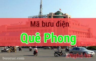 Mã bưu điện Quế Phong, Nghệ An