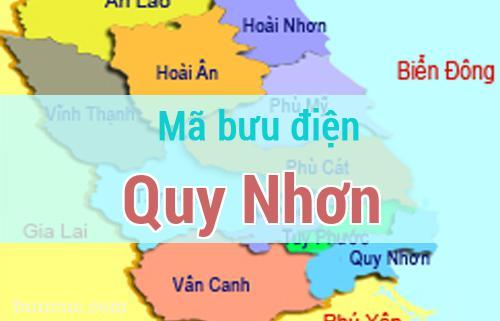 Mã bưu điện Quy Nhơn, Bình Định