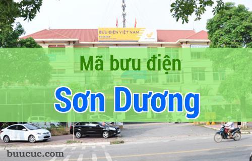 Mã bưu điện Sơn Dương, Tuyên Quang