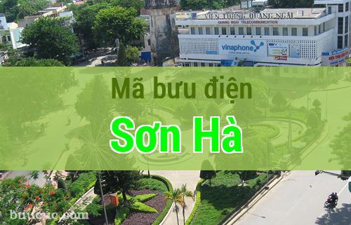 Mã bưu điện Sơn Hà, Quảng Ngãi