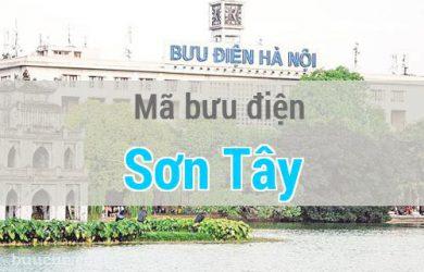 Mã bưu điện Sơn Tây, Hà Nội