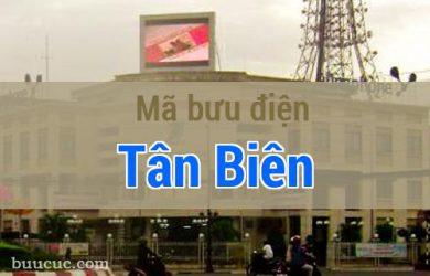 Mã bưu điện Tân Biên, Tây Ninh
