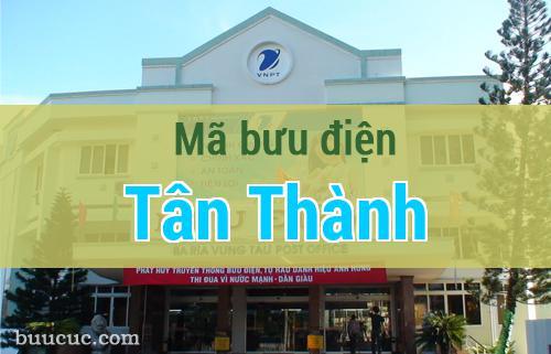 Mã bưu điện Tân Thành, Bà Rịa Vũng Tàu