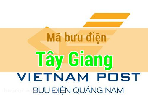 Mã bưu điện Tây Giang, Quảng Nam