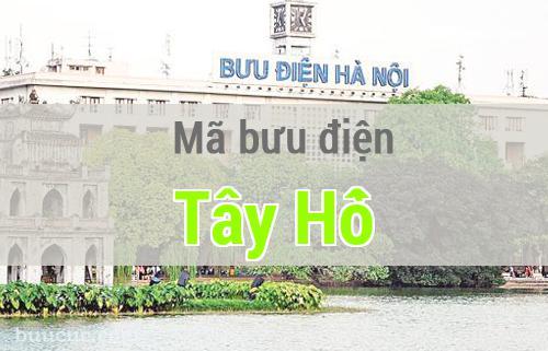 Mã bưu điện Tây Hồ, Hà Nội
