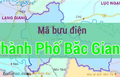 Mã bưu điện Thành Phố Bắc Giang, Bắc Giang