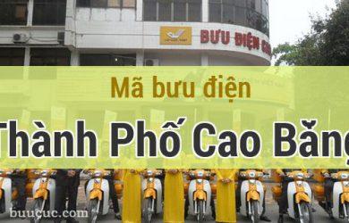 Mã bưu điện Thành Phố Cao Bằng, Cao Bằng