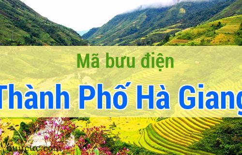 Mã bưu điện Thành Phố Hà Giang, Hà Giang