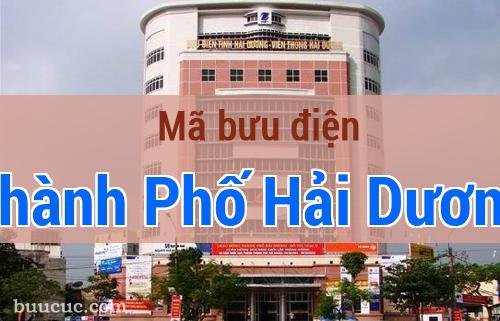 Mã bưu điện Thành Phố Hải Dương, Hải Dương