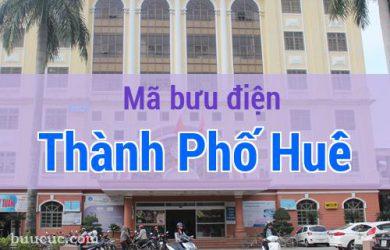 Mã bưu điện Thành Phố Huế, Thừa Thiên Huế