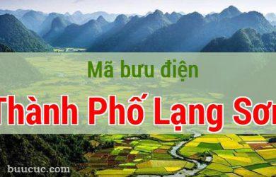 Mã bưu điện Thành Phố Lạng Sơn, Lạng Sơn