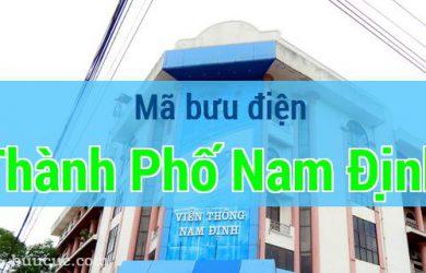 Mã bưu điện Thành Phố Nam Định, Nam Định