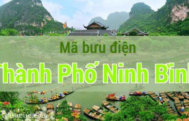 Mã bưu điện Thành Phố Ninh Bình, Ninh Bình