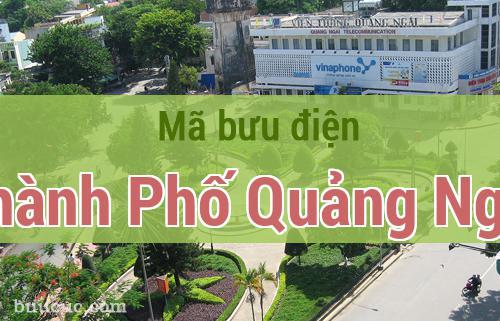 Mã bưu điện Thành Phố Quảng Ngãi, Quảng Ngãi