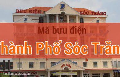 Mã bưu điện Thành Phố Sóc Trăng, Sóc Trăng