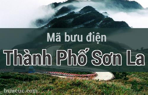 Mã bưu điện Thành Phố Sơn La, Sơn La