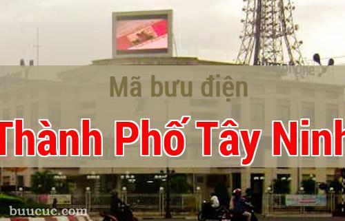 Mã bưu điện Thành Phố Tây Ninh, Tây Ninh