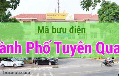 Mã bưu điện Thành Phố Tuyên Quang, Tuyên Quang