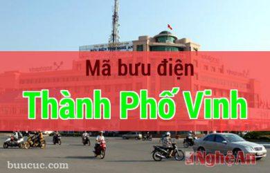 Mã bưu điện Thành Phố Vinh, Nghệ An