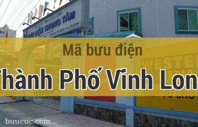 Mã bưu điện Thành Phố Vĩnh Long, Vĩnh Long