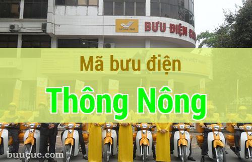 Mã bưu điện Thông Nông, Cao Bằng