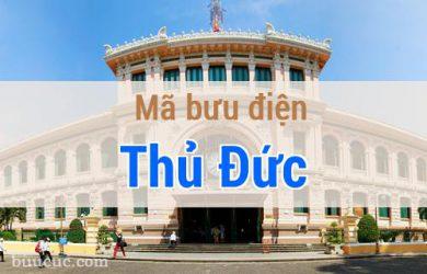Mã bưu điện Thủ Đức, Hồ Chí Minh