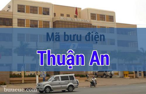 Mã bưu điện Thuận An, Bình Dương