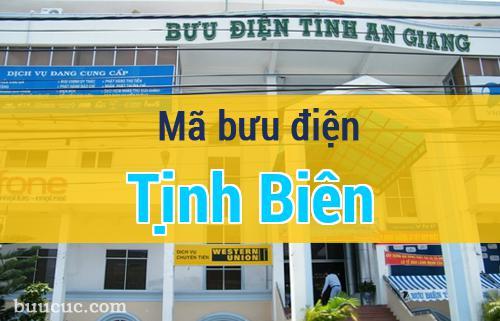 Mã bưu điện Tịnh Biên, An Giang