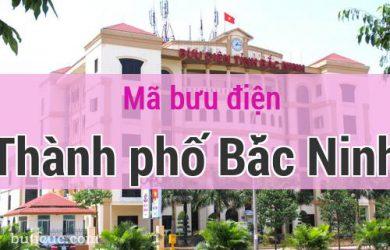 Mã bưu điện Thành phố Bắc Ninh, Bắc Ninh