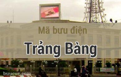 Mã bưu điện Trảng Bàng, Tây Ninh