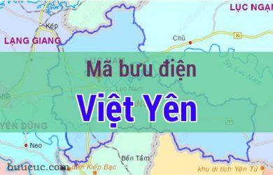 Mã bưu điện Việt Yên, Bắc Giang