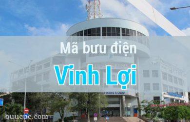 Mã bưu điện Vĩnh Lợi, Bạc Liêu