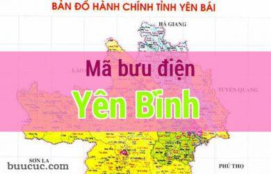 Mã bưu điện Yên Bình, Yên Bái