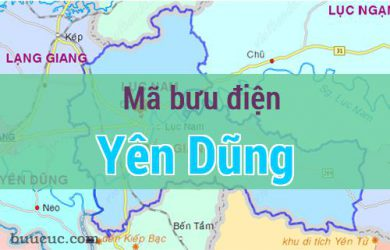 Mã bưu điện Yên Dũng, Bắc Giang