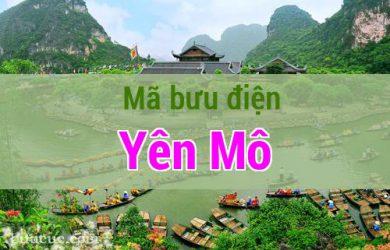 Mã bưu điện Yên Mô, Ninh Bình