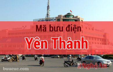 Mã bưu điện Yên Thành, Nghệ An