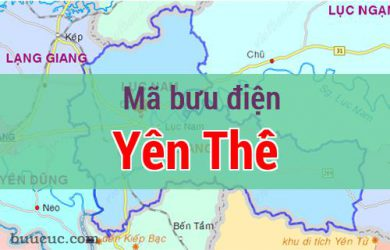 Mã bưu điện Yên Thế, Bắc Giang