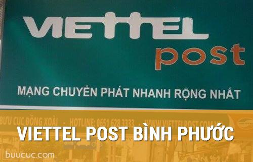 Các điểm nhận vận chuyển thư, hàng hóa của ViettelPost tại Bình Phước