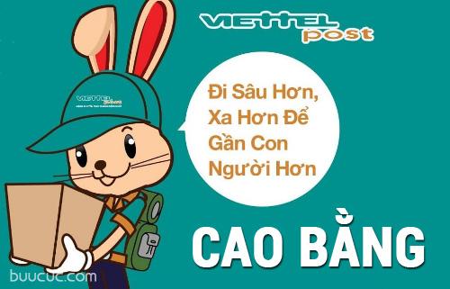 Nhận hàng hóa, chuyển phát nhanh Viettel ở Cao Bằng