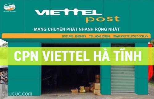 Địa chỉ chuyển phát nhanh Viettel Hà Tĩnh