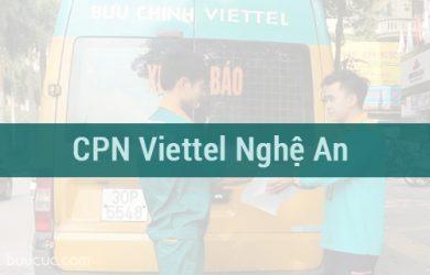 CPN hàng hóa COD Viettel ở Nghệ An