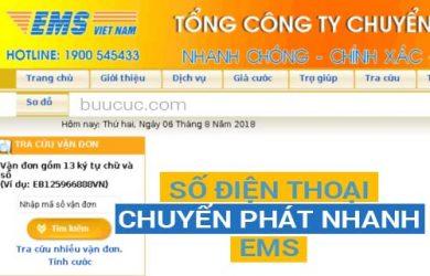 Số điện thoại chuyển phát nhanh EMS