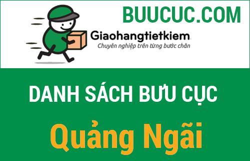 Bưu cục giao hàng tiết kiệm Quảng Ngãi
